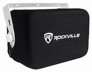 4  Rockville Hp65s 6 5 U0026quot  Marine Box Speakers W   Swivel