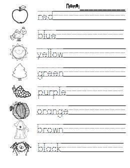 kindergarten kg english worksheets  kidsworksheetfun