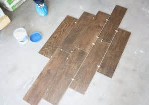 Tile Floor Layout by Wood Grain Tile Flooring That Transforms Your House The