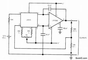 10 V Using Standard Cell - Power Supply Circuit - Circuit Diagram