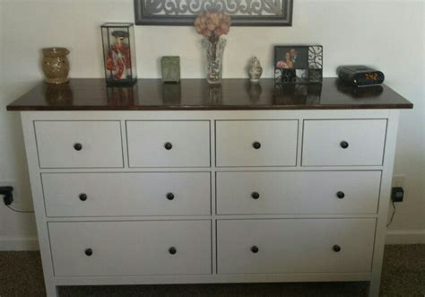 Hemnes 8 Drawer Dresser White Stain.