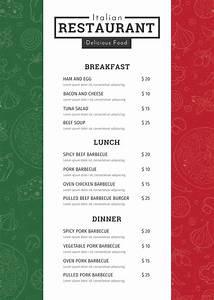 Free italian menu template in adobe photoshop microsoft for Free restaurant menu templates for mac