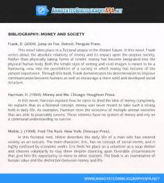 Annotated Bibliographies APA 6th Edition