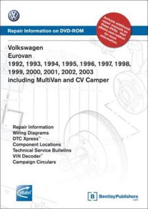 book repair manual 1999 volkswagen eurovan windshield wipe control volkswagen eurovan 1992 1993 1994 1995 1996 1997 1998 1999 2000 2001 2002 2003 repair