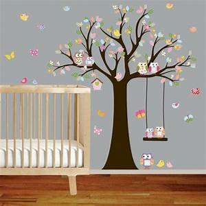 stickers arbres gants cool grand arbre gnalogique With déco chambre bébé pas cher avec top fleurs
