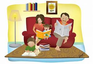 A family reading together by scarletcord on DeviantArt