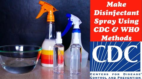 How to make Disinfectant Spray at Home using C.D.C & W.H.O