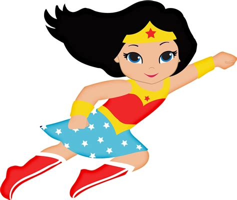 Wonder Woman Baby Clipart.