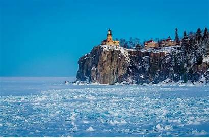 Minnesota Winter Snow Lake Lighthouse Nature Ice