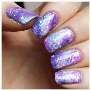 Amazing galaxy nail designs for the season pretty
