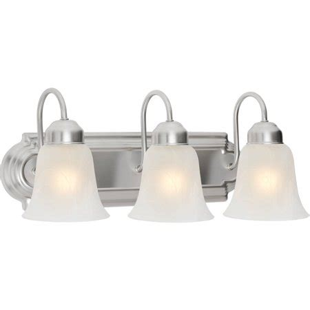 walmart vanity lights chapter 3 light bathroom vanity light satin nickel