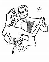 Dance Coloring Pages Swing Dancing Couple Printables sketch template