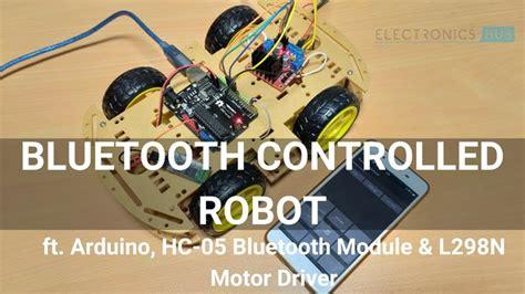 bluetooth controlled robot  arduino  arduino