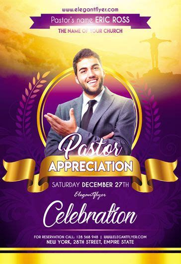 pastor appreciation flyer psd template