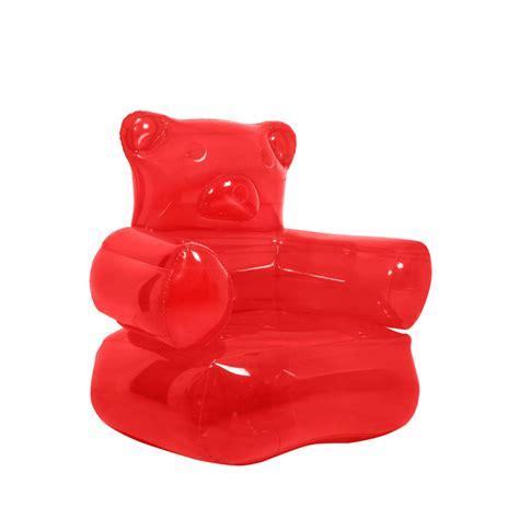 fauteuil gonflable hello fauteuil gonflable ours gummy kas design distributeur d objets d 233 co insolites
