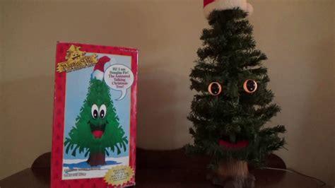 gemmy animated douglas fir  talking christmas tree