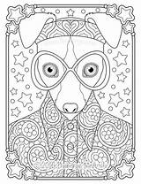 Coloring Hippie Pages Whippet Thaneeya Groovy Animal Books Mcardle Printable Colouring Animals Dog Drawings Adult Trippy Vibes Peace Adults Fun sketch template