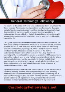 great cardiology fellowship personal statement samples