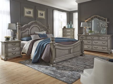 gray bedroom set messina estates bedroom gray poster bedroom set from