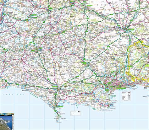 dorset  map including jurassic coast isle