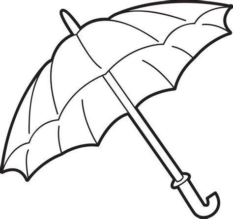umbrella coloring page spring umbrella coloring page