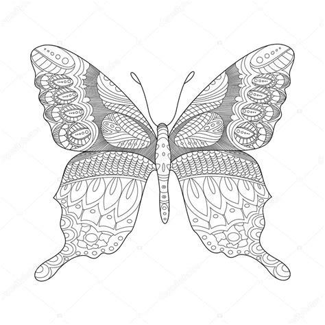 Kleurplaten Vlinders Volwassenen by Vlinder Kleurplaat Boek Voor Volwassenen Vector