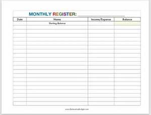 Free Printable Monthly Budget Worksheet
