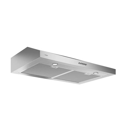 Ductless Cabinet Range ancona slim 30 in 325 cfm convertible ductless