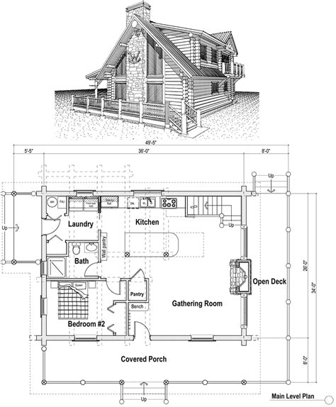 building plans for cabins woodwork cabin house plan with loft pdf plans