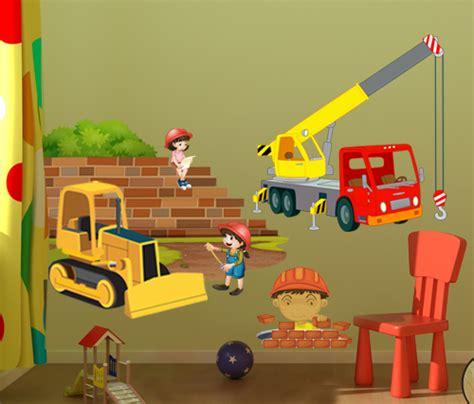 stickers dcors de chantier pour dco chambre enfant vente