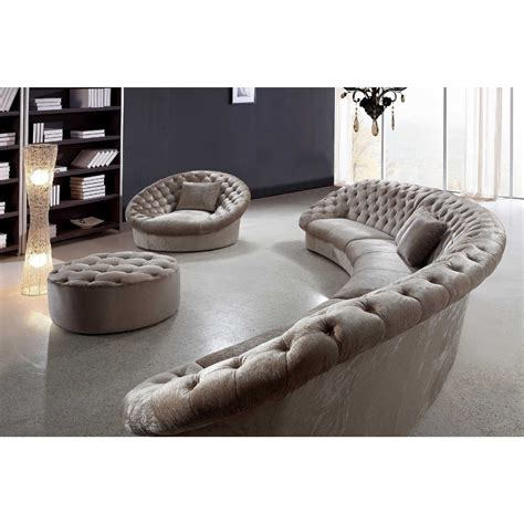 living room comfortable curved sectional  elegant