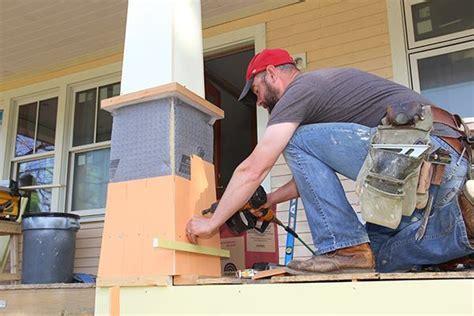 craftsman porch columns professional deck builder design