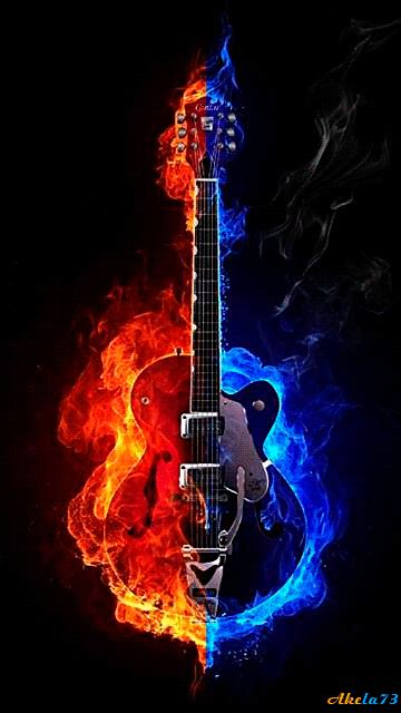 Animated Guitar Wallpaper - magicmobi mobile screensavers 360x640 part 1