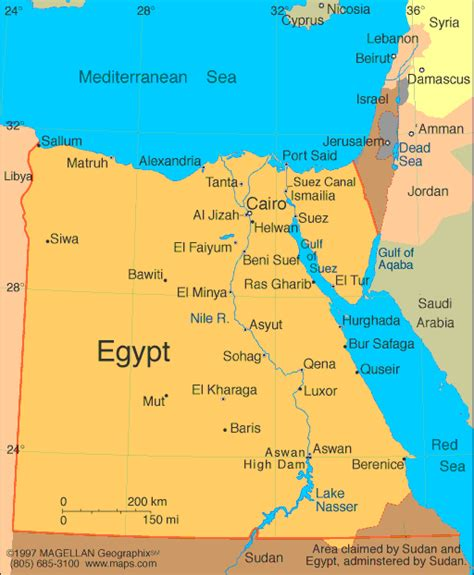 egypt map pictures  information