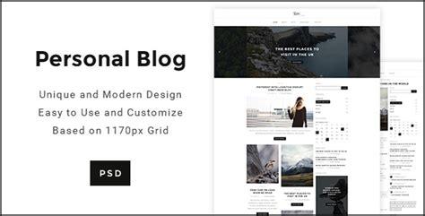 Modern Minimal Personal Blog Psd By Blogwp