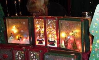 19 ideas for christmas decorated glass blocks 187 the purple pumpkin blog