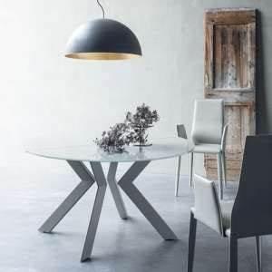 Table Ronde Extensible Design : table ronde 4 pieds ~ Teatrodelosmanantiales.com Idées de Décoration