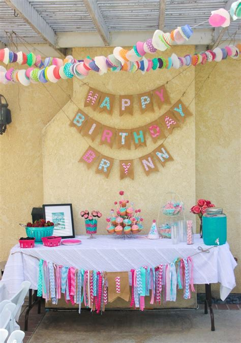 a cupcake themed 1st birthday party with paisley and polka pink and aqua cupcake themed 1st birthday 39 s 1st