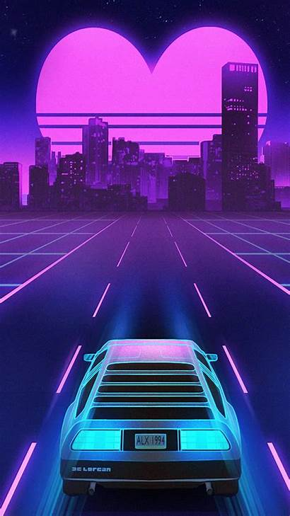 Retrowave S21 S20 Note Wallpapers