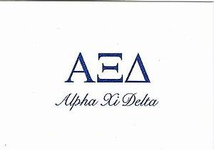 alpha stationery alpha xi delta thermography fold over With alpha xi delta greek letters
