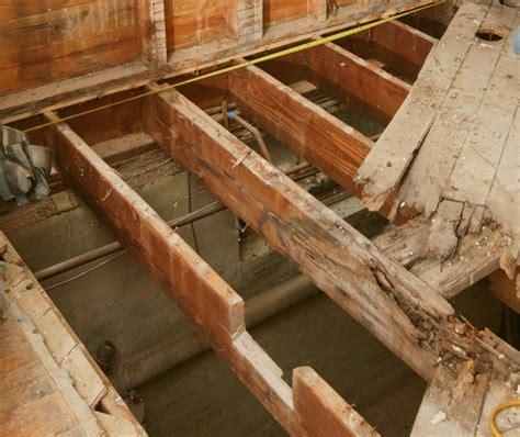 repair  butchered floor joist woodworking tips