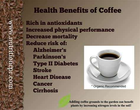 Health Benefits of Coffee   NutritionCPR