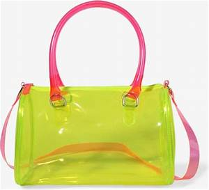 Forever 21 Neon Boston Bag in Transparent neon green hot