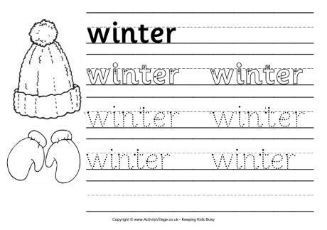 8 best images of free printable winter worksheets for