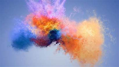 Huawei Colorful Honor 7x Abstract Splashes Desktop