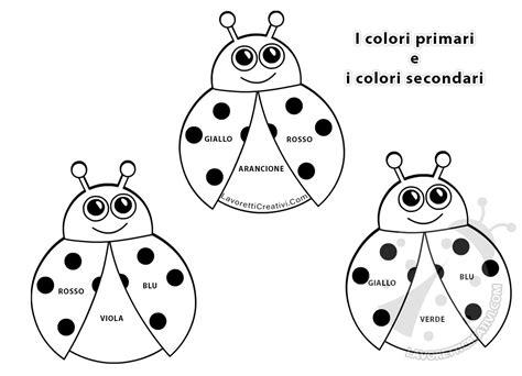 disegni da colorare con colori primari e secondari schede didattiche sui colori primari stare disegni da
