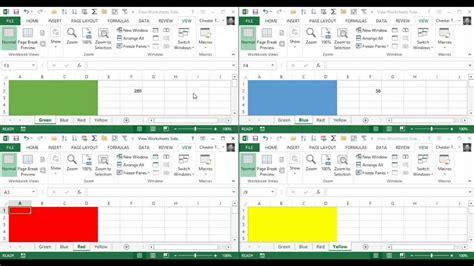 tileview multiple excel worksheets