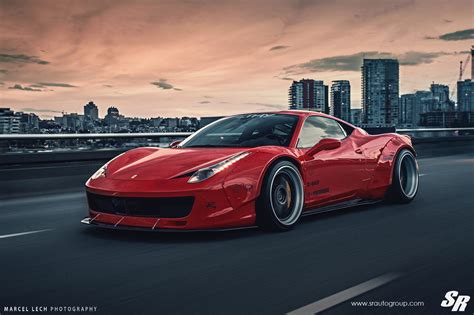 Liberty Walk Ferrari 458 Italia On Pur Wheels Italian