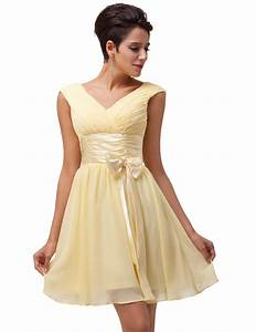 grace karin yellow short bridesmaid dress 2016 wedding With short dress for wedding party