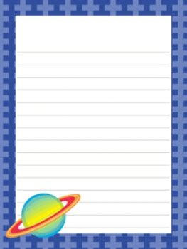 outer space astronaut writing paper  designs